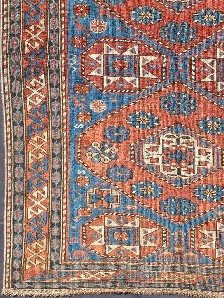 This Stunning Late 19th Century Shirvan Rug Antique Caucasian From The Caucasus Region Displays
