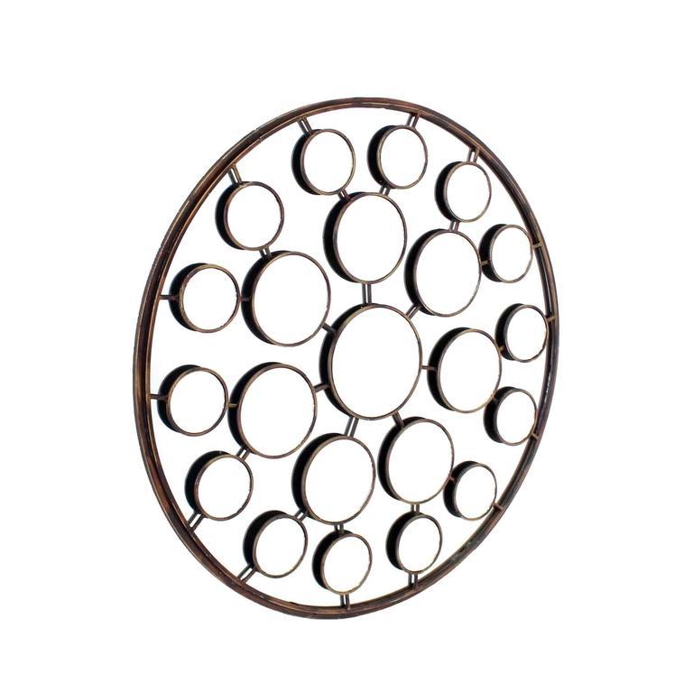 """Large 36"""" in Diameter Round Sculptural Sunburst Mirror"""