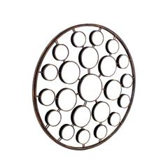 "Large 36"" in Diameter Round Sculptural Sunburst Mirror"