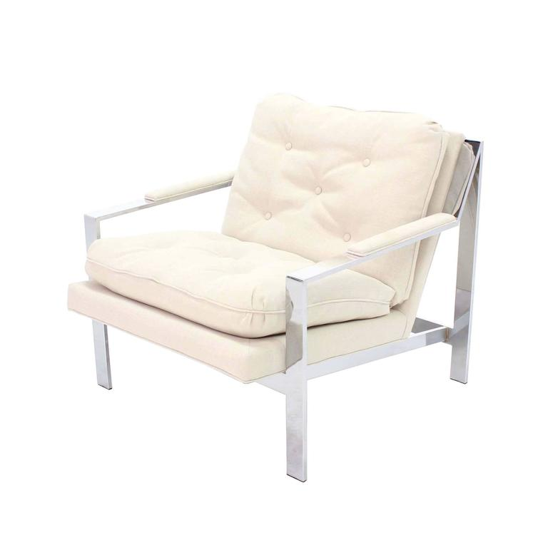 Cy Mann New Upholstery Lounge Chair For Sale