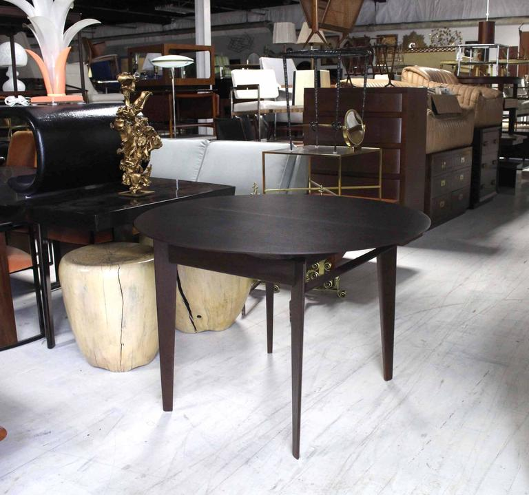 mid century modern round dining table for sale at 1stdibs