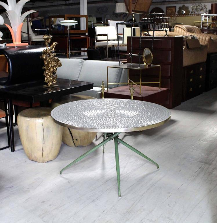 Mosaic Dining Room Table: Mosaic Top Round Outdoor Table At 1stdibs
