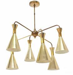 Cone Shades Sputnik Style Chandelier Light Fixture