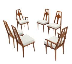 Set of Six Swedish Dining Chairs  New Upholstery