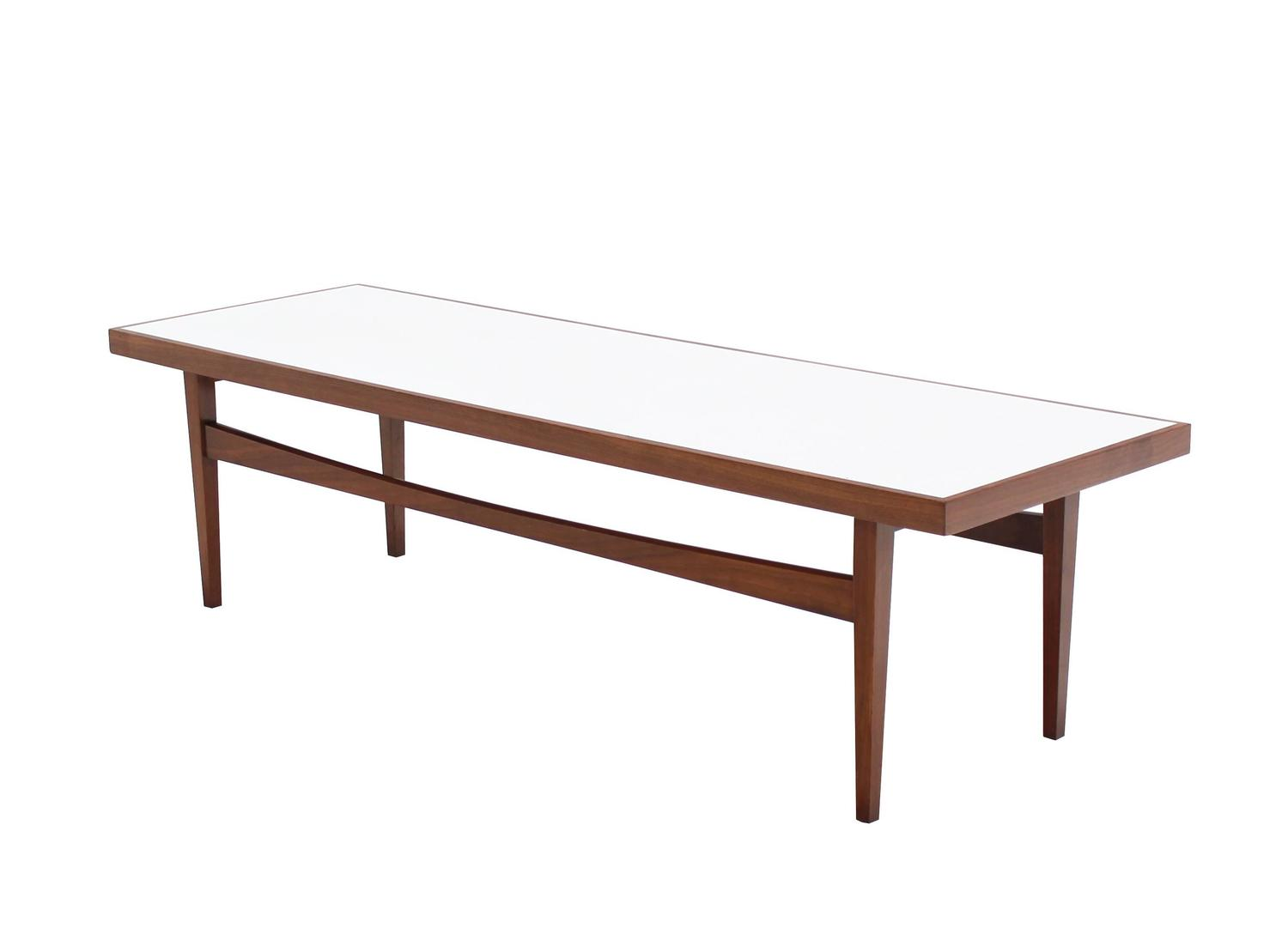 walnut long rectangular coffee table for sale at 1stdibs With long rectangle coffee table