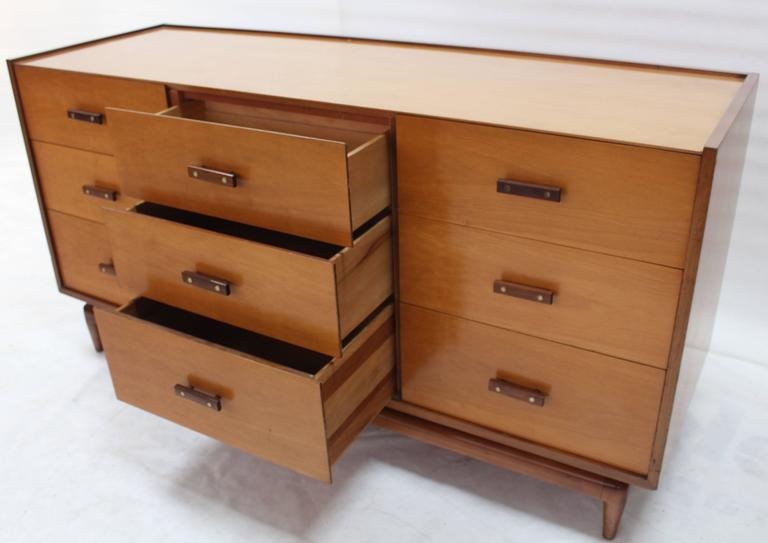 American Nine Drawers Two Tone Finish Dresser For