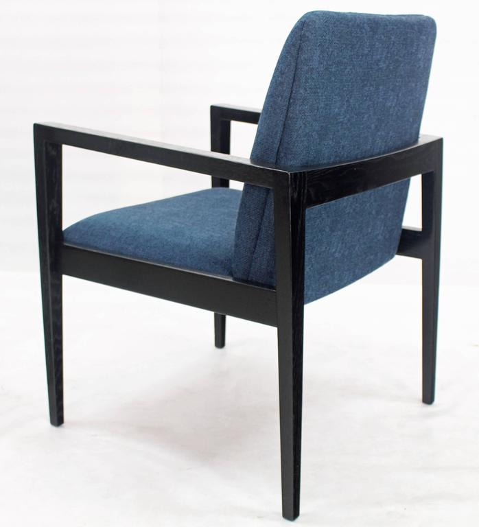 American Pair of Mid-Century Modern Ebonized Lounge Chairs For Sale