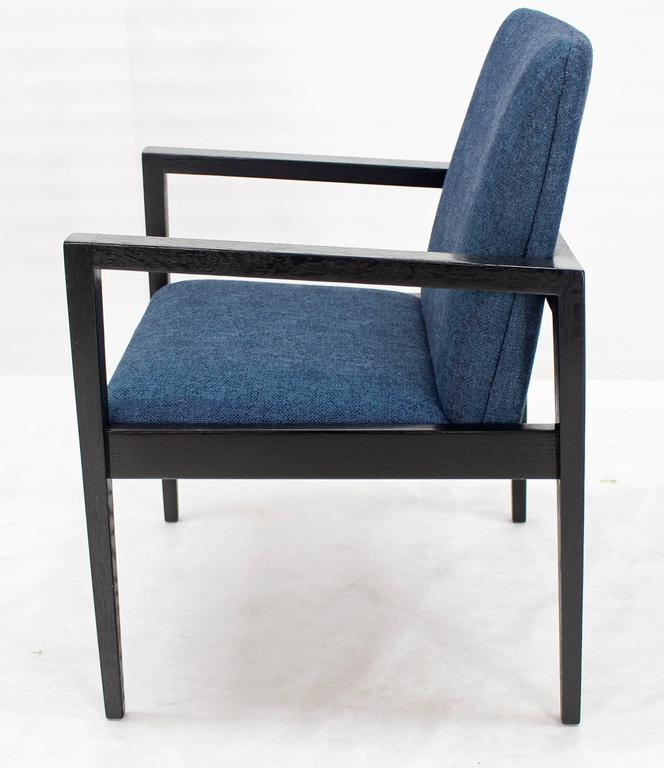 Pair of Mid-Century Modern Ebonized Lounge Chairs In Excellent Condition For Sale In Rockaway, NJ