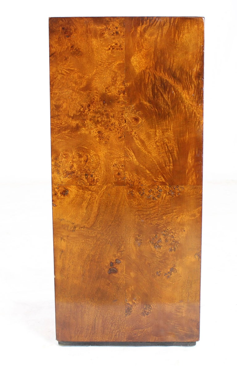 American Burl Wood Mid-Century Modern Pedestal For Sale