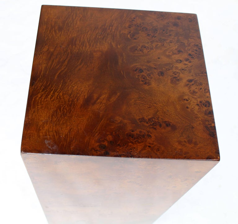 Lacquered Burl Wood Mid-Century Modern Pedestal For Sale