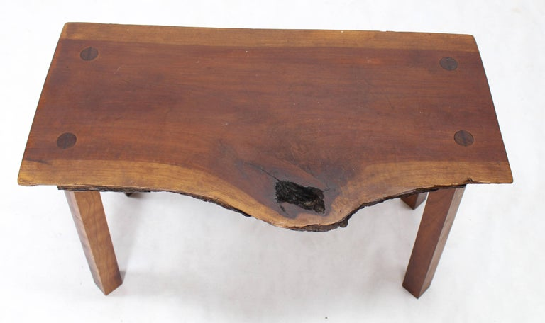 Organic Shape Walnut Bench In Excellent Condition For Sale In Elmwood Park, NJ