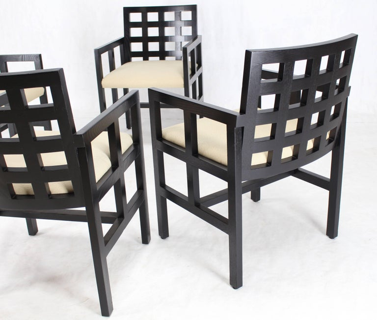 Set of Four Black Side Dining Chairs by Ward Bennet for Brickel Associates 3