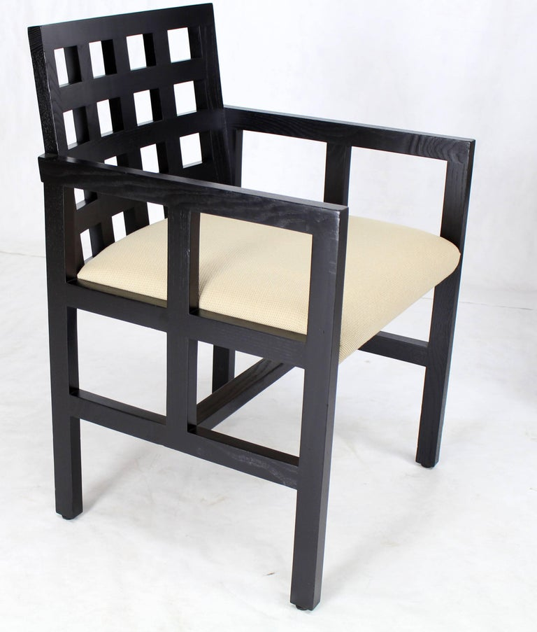 Set of Four Black Side Dining Chairs by Ward Bennet for Brickel Associates 7