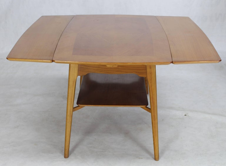 Swedish Blond Wood Expandable Refectory Coffee Side Table
