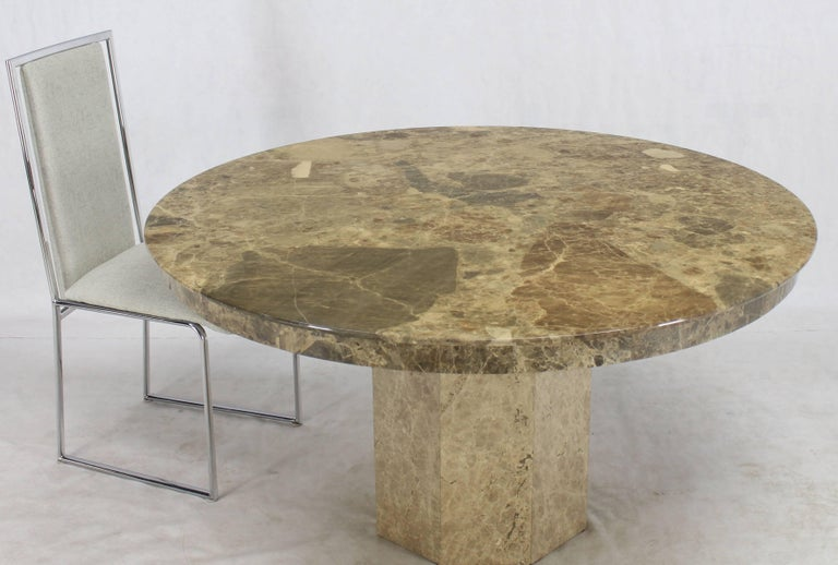 Large round marble dining center conference table for sale for Large round dining table for sale