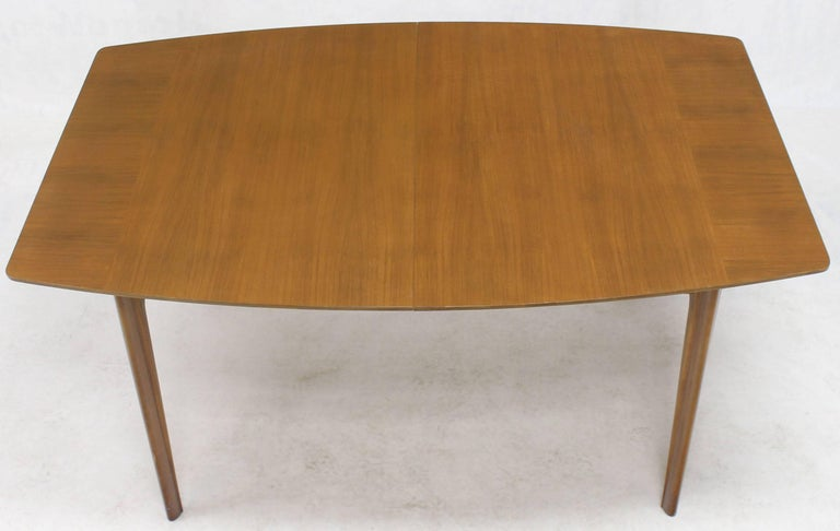 Mid-Century Modern Widdicomb Walnut Dining Table w/ Two Extension Boards Leaves  For Sale
