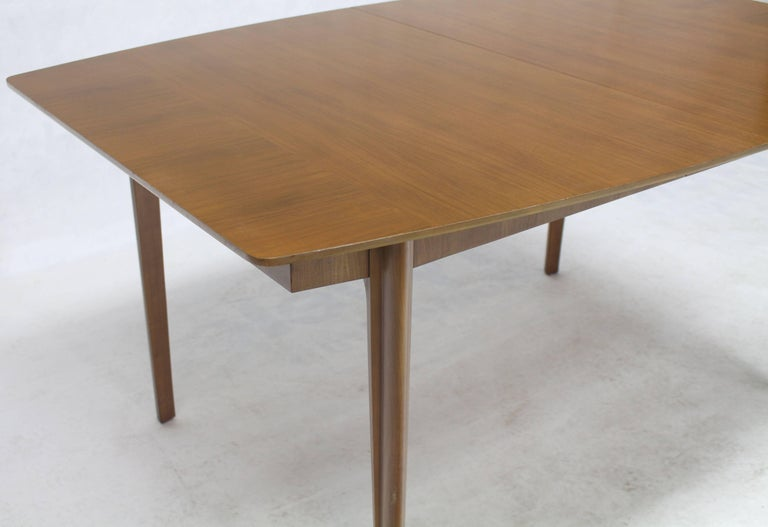 American Widdicomb Walnut Dining Table w/ Two Extension Boards Leaves  For Sale