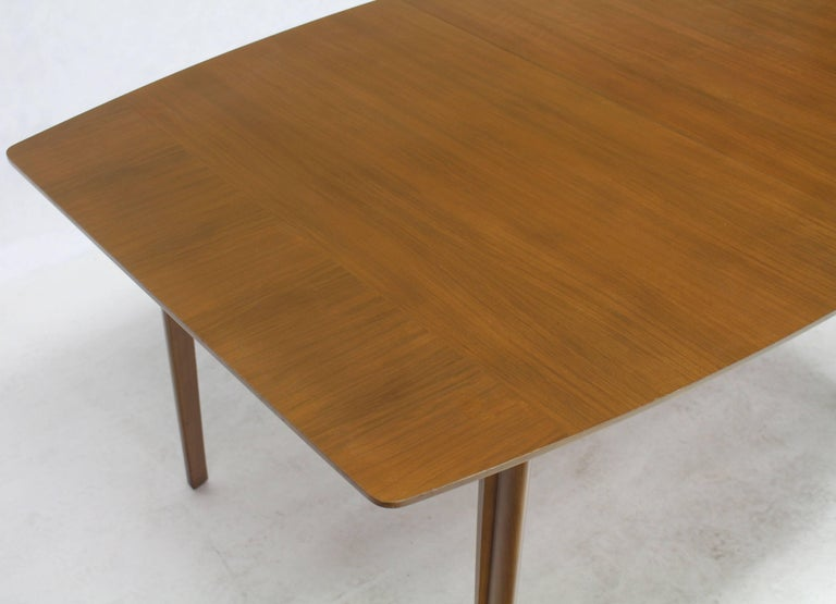 Lacquered Widdicomb Walnut Dining Table w/ Two Extension Boards Leaves  For Sale