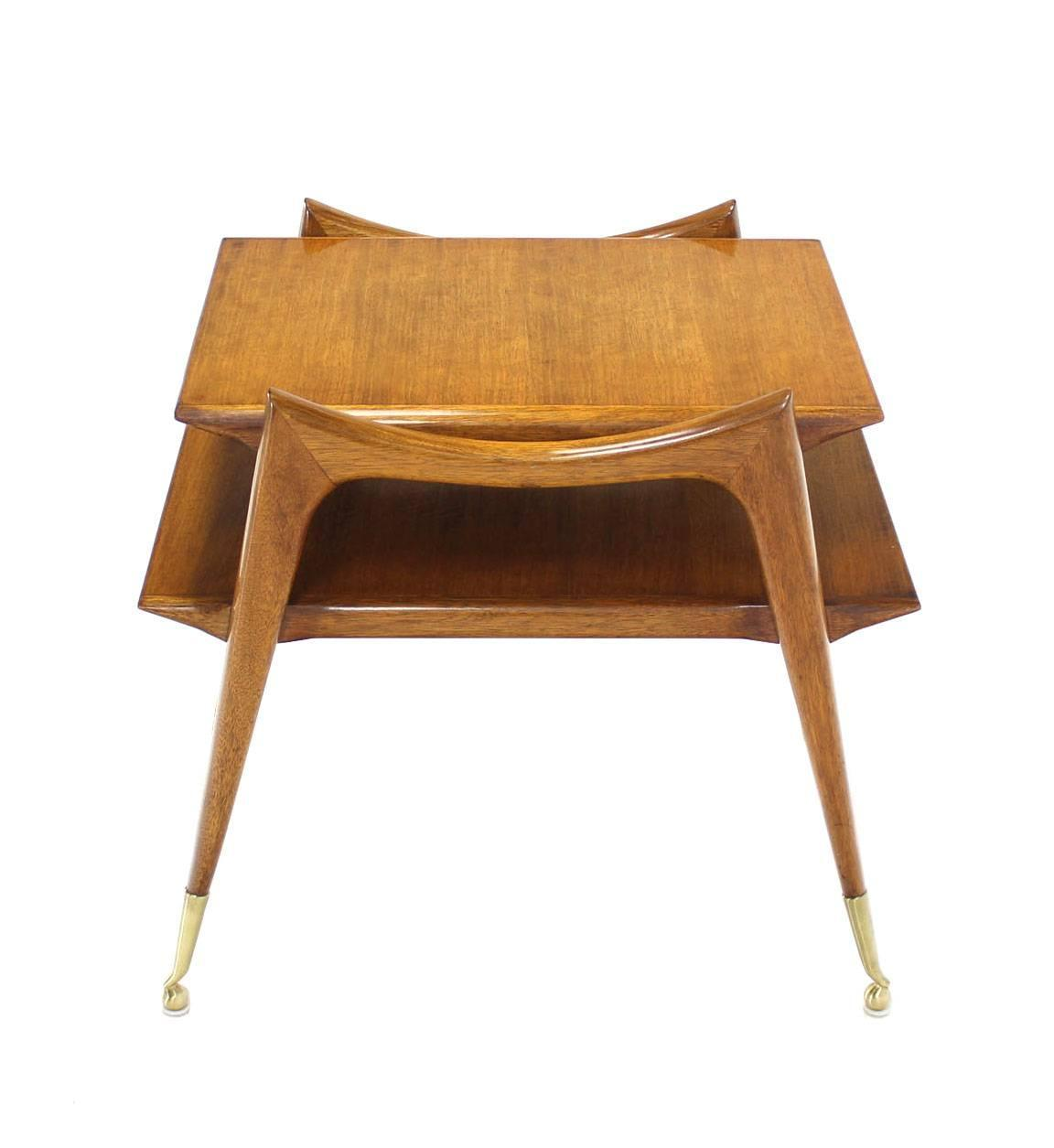 Mid Century Modern Sculptural Legs Side Table For Sale At 1stdibs