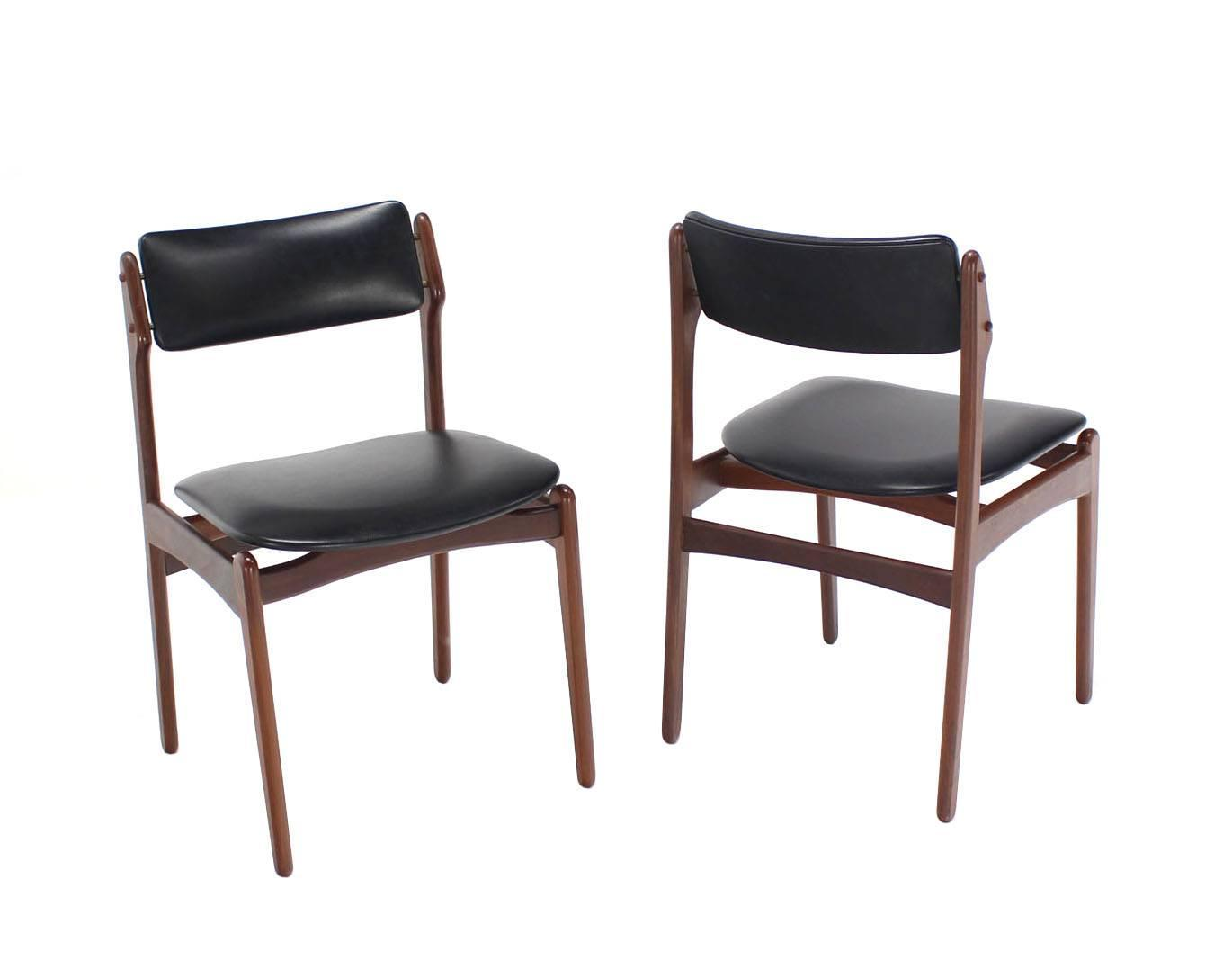 set of six danish modern teak dining chairs at 1stdibs