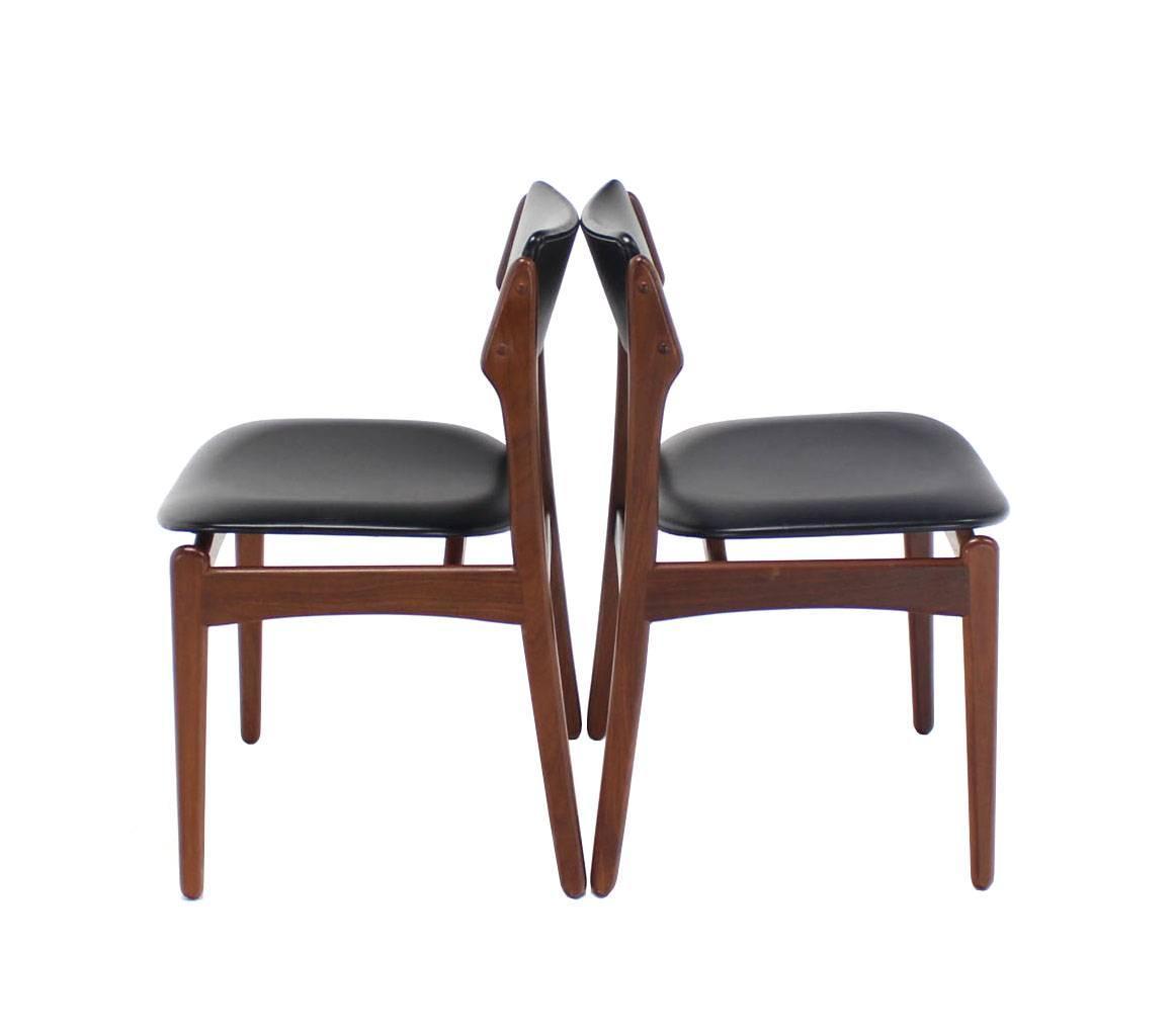 Set of six danish modern teak dining chairs at 1stdibs for Danish modern chairs
