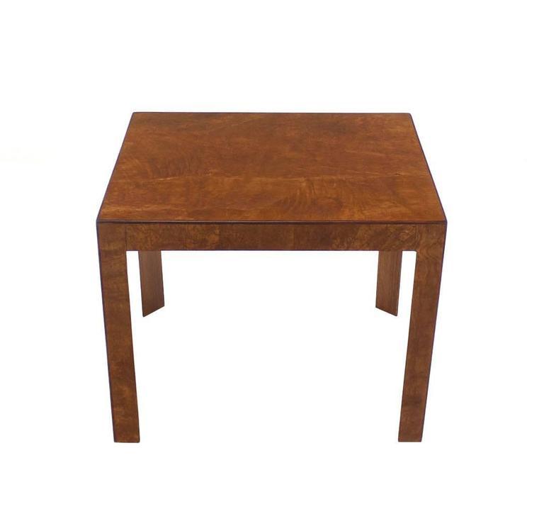 20th Century Burl Walnut Mid-Century Modern Side Table For Sale