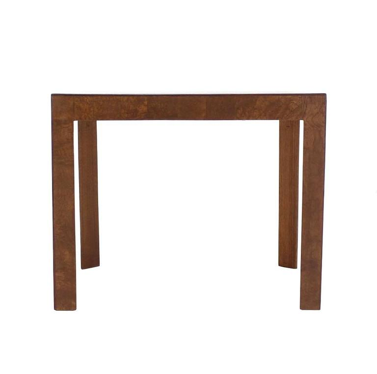 Lacquered Burl Walnut Mid-Century Modern Side Table For Sale