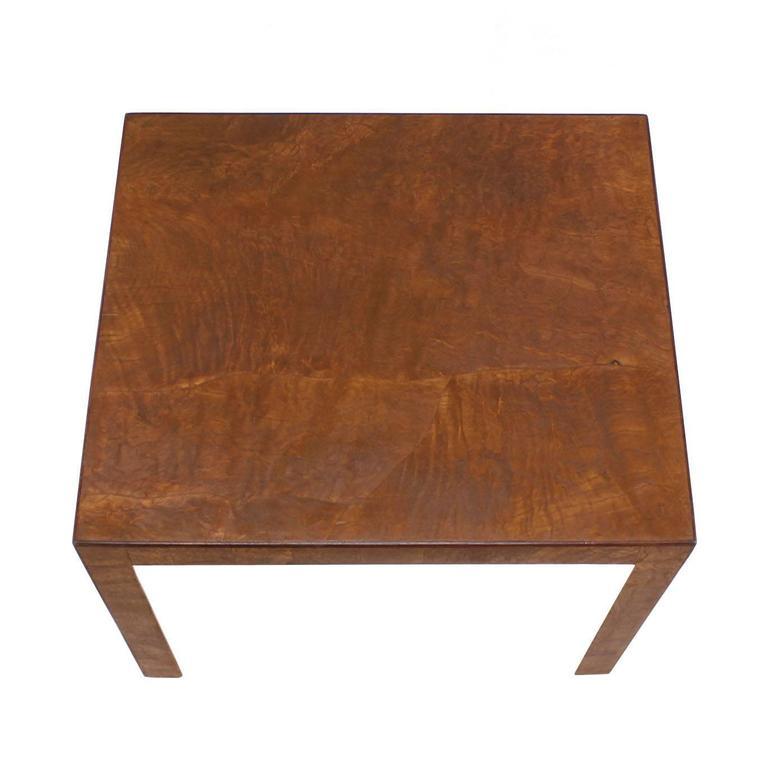 American Burl Walnut Mid-Century Modern Side Table For Sale