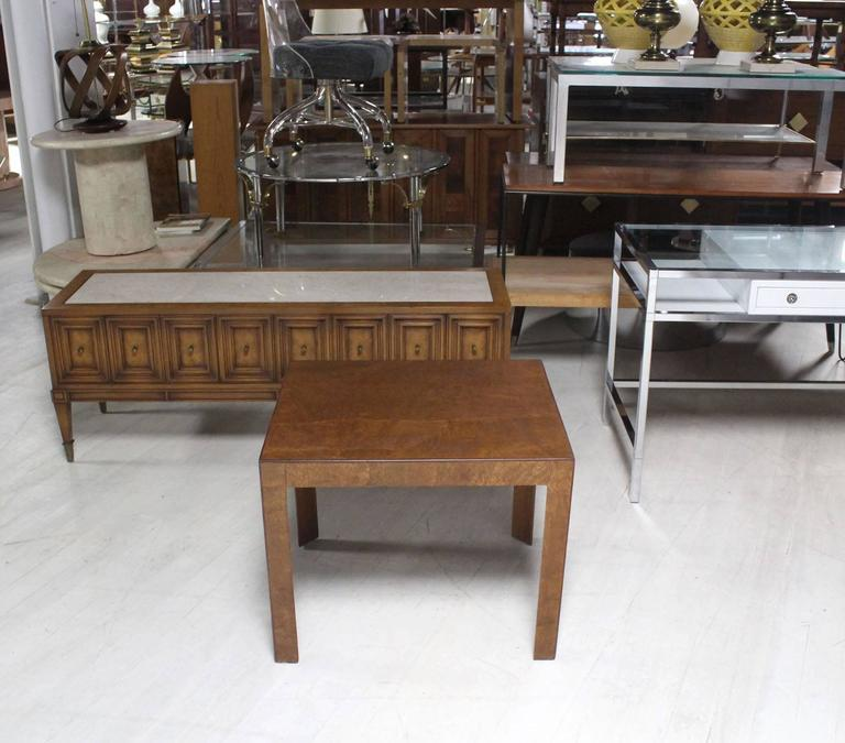 Very nice burl walnut Mid-Century Modern side table possibly designed by M. Baughman.