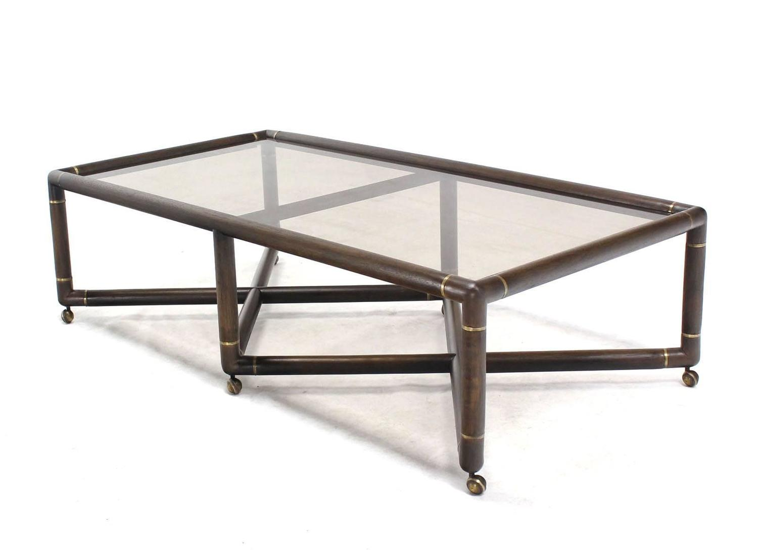 Double X Base Coffee Table On Wheels For Sale At 1stdibs