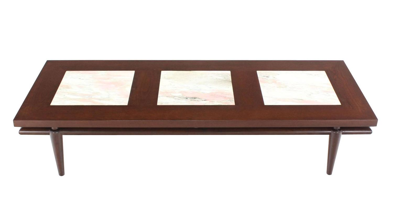 Widdicomb floating marble inserts top coffee table for for Marble coffee table sets for sale