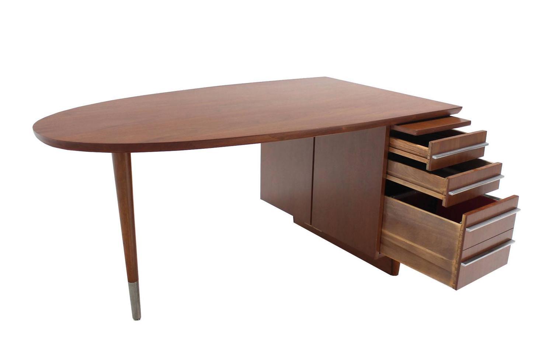Unusual oval shape walnut desk for sale at 1stdibs for Unusual writing desks