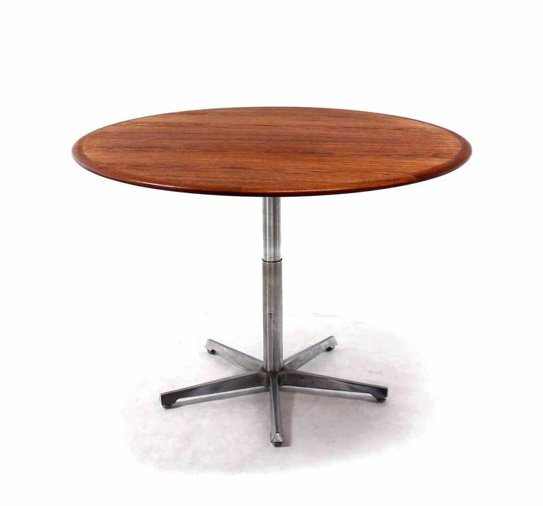 hi lo convertible coffee dining dinette teak table on 5