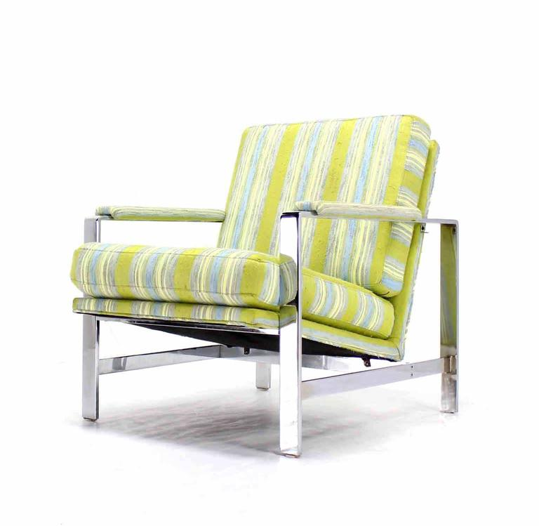 Polished Mid Century Modern Lounge Chair For Sale