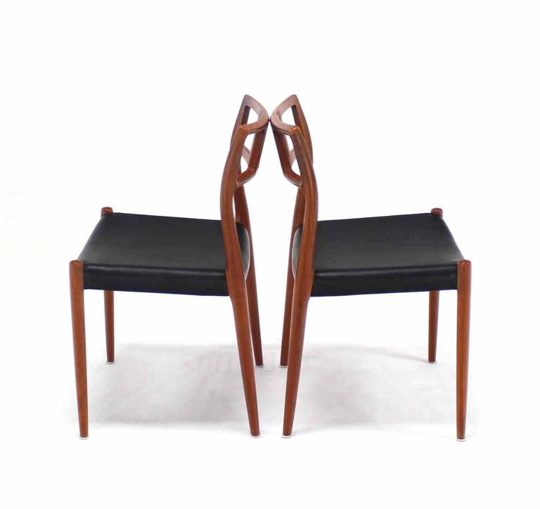Set Of Six Teak Danish Modern Moller Chairs At 1stdibs