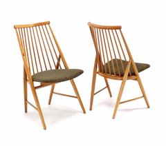 Pair of Swedish Spindle Back Chairs