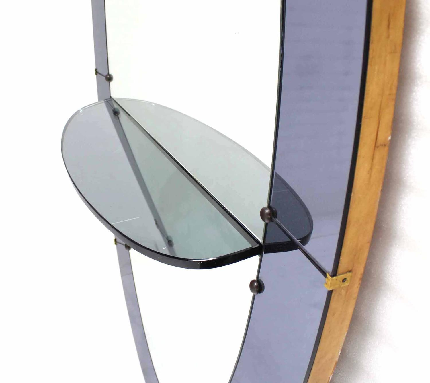 Oval cheval mirror with shelf vanity for sale at 1stdibs for Floor length vanity mirror