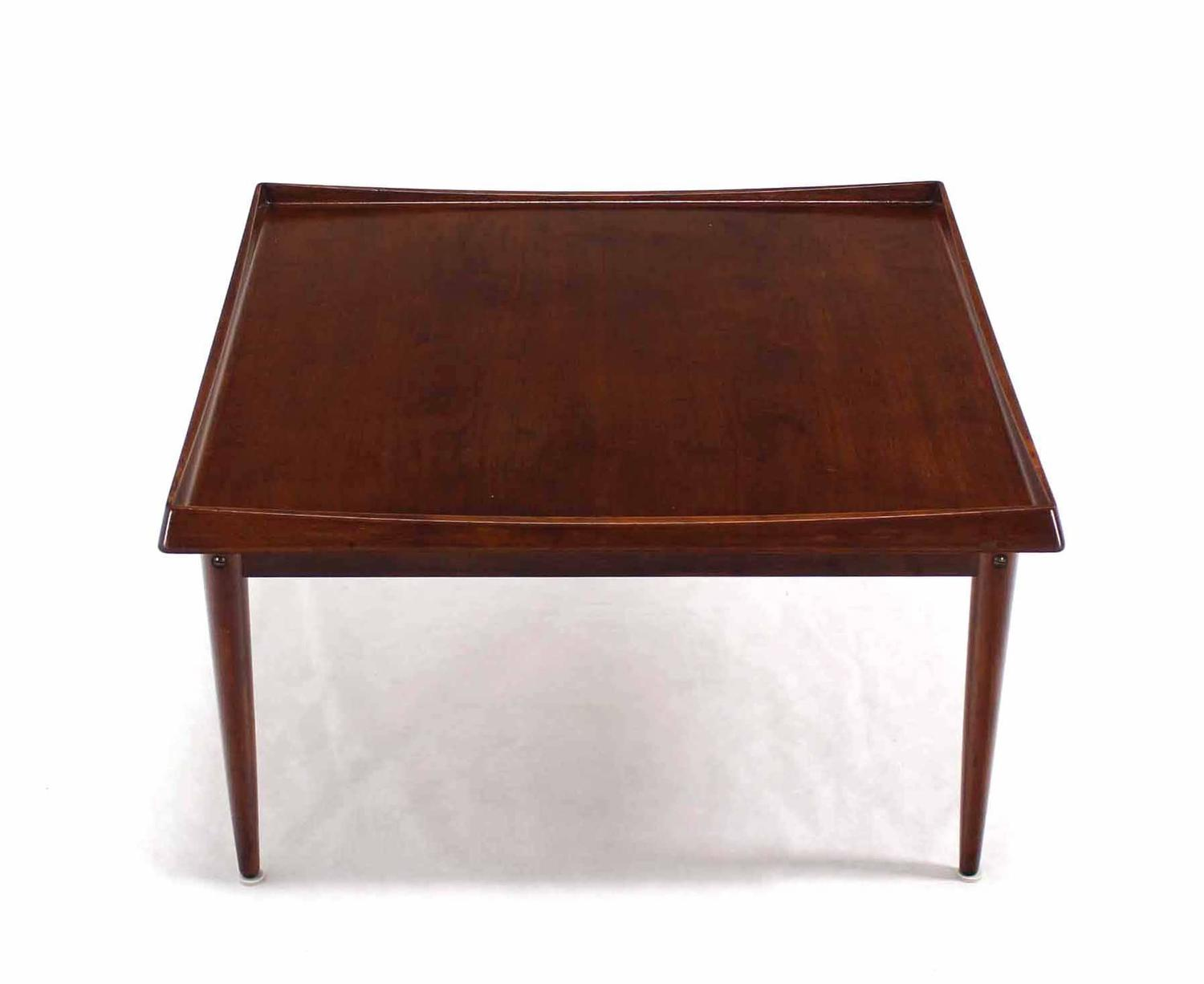 Square Rolled Edge Danish Modern Teak Coffee Table For Sale At 1stdibs