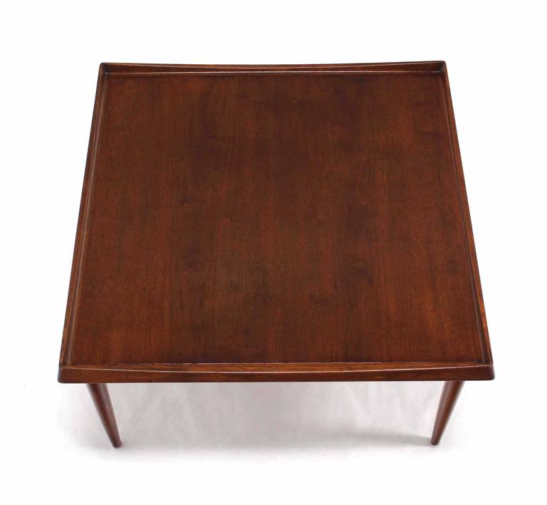 Square Rolled Solid Teak Edge Danish Modern Teak Coffee ...