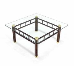 Faux Bamboo Square Coffee Table