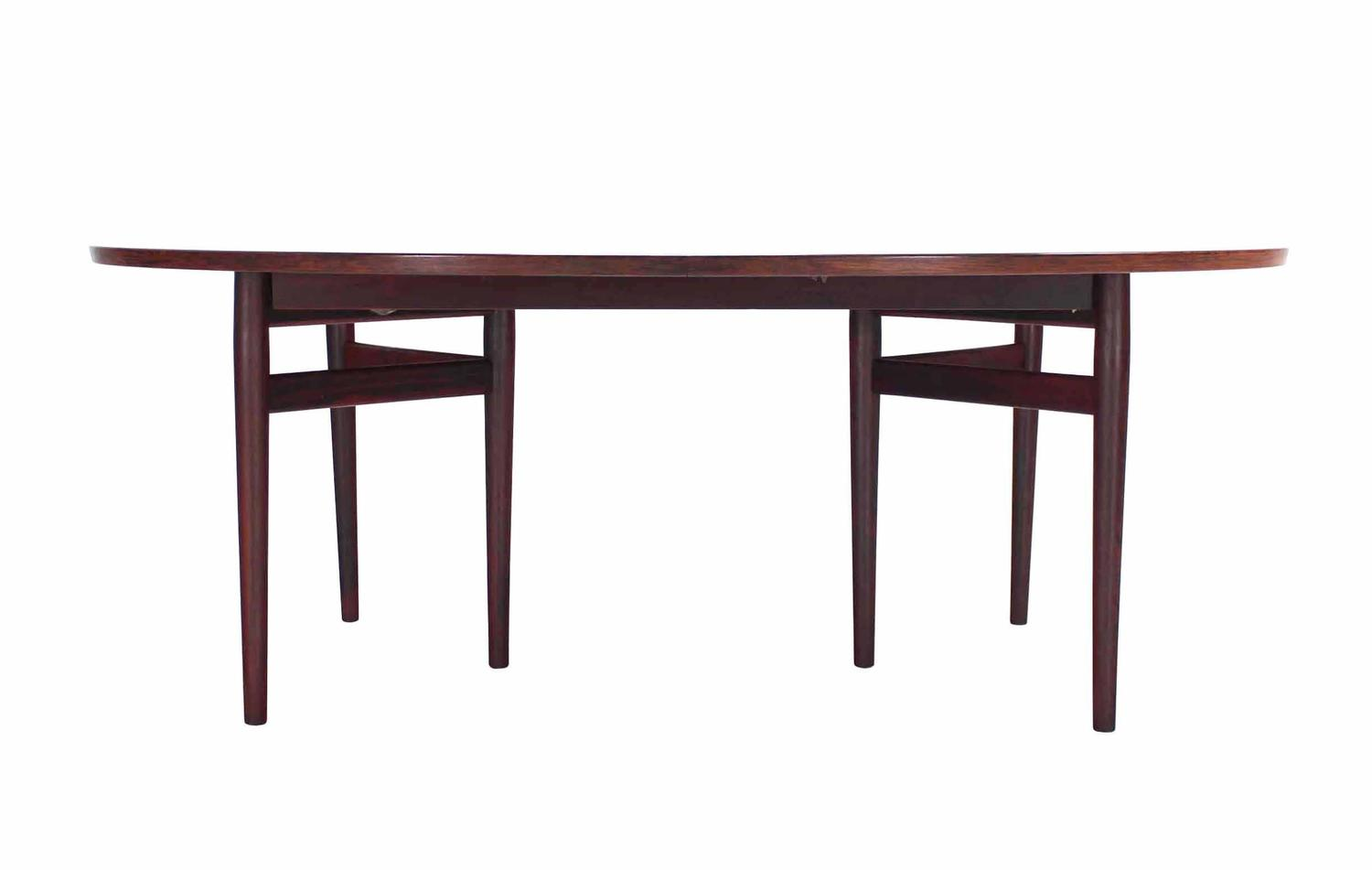 danish modern rosewood dining table with two leafs at 1stdibs