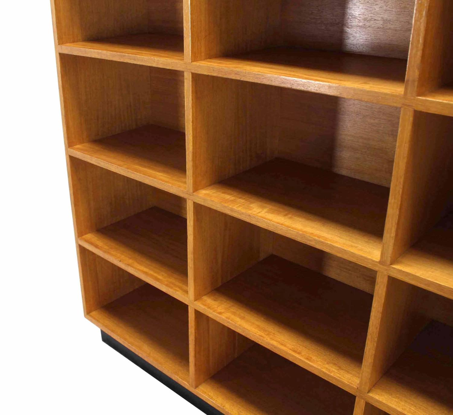 Wood Bookshelves For Sale: Nice Custom Solid Wood Shelving Unit Bookcase For Sale At