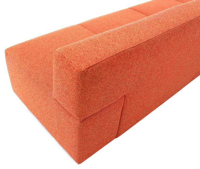 Orange Upholstery Steelcase Sofa Booth For Sale 1