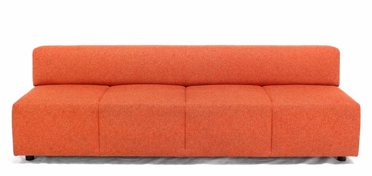 Vintage Steelcase sofa long booth.