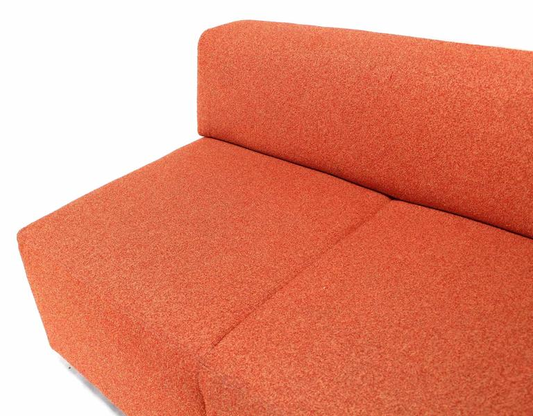 American Orange Upholstery Steelcase Sofa Booth For Sale