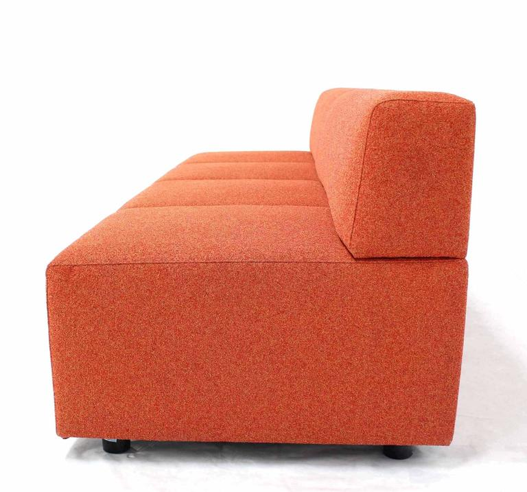 20th Century Orange Upholstery Steelcase Sofa Booth For Sale