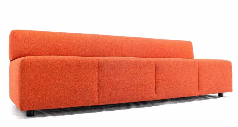 Orange Upholstery Steelcase Sofa Booth For Sale 2