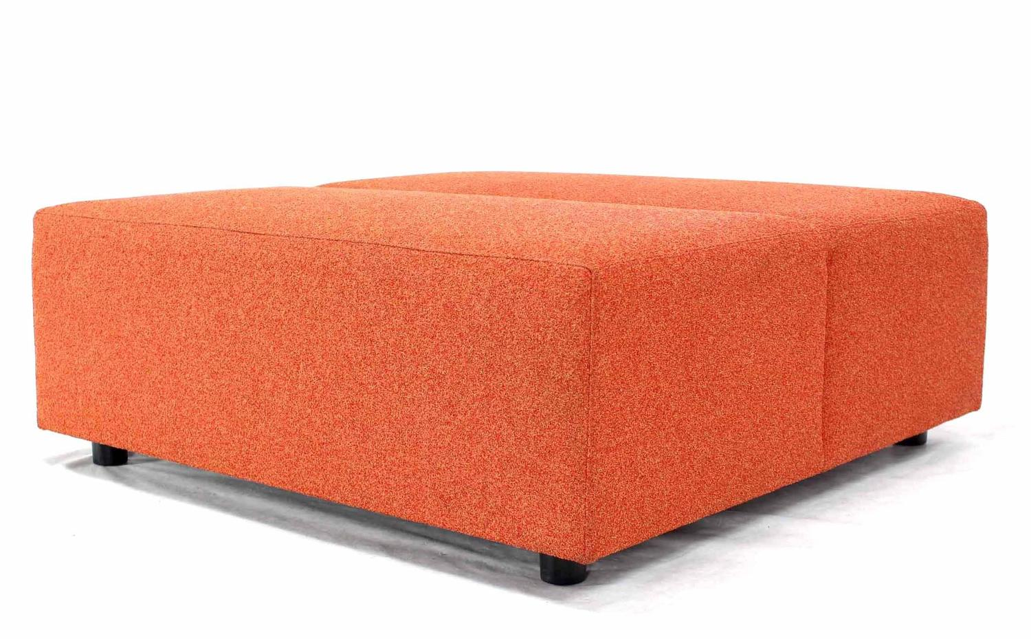 Pair Of Large Orange Ottomans By Steelcase For Sale At 1stdibs