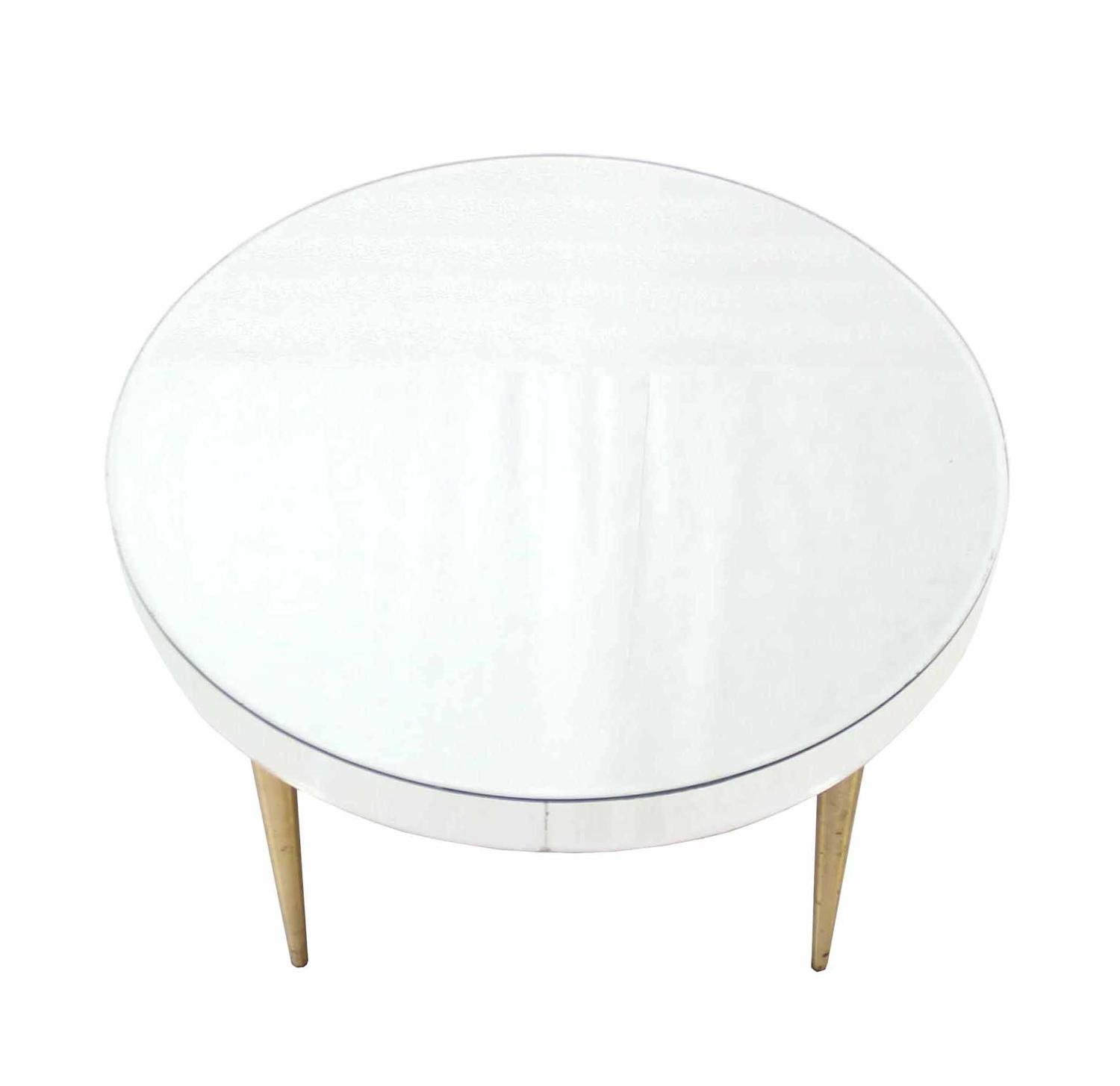 Mirrored Top Drum Shape Coffee Table For Sale At 1stdibs