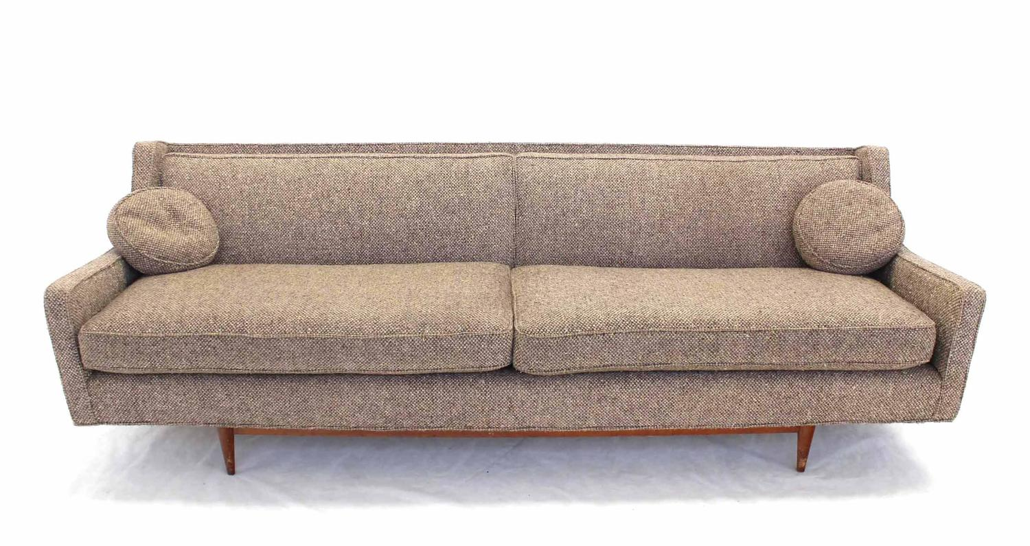 Mid century modern walnut base sofa for sale at 1stdibs for Mid century sectional sofa for sale